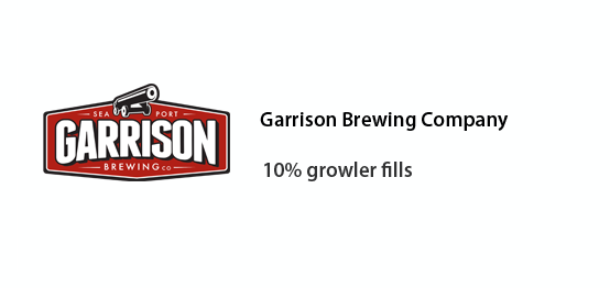 Garrison brewing Co - 10% off growler fills
