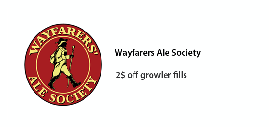 Wayfarers Ale Society - two dollars off growler fills
