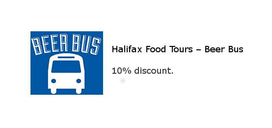 Halifax Food Tours - Beer Bus 10% dscount