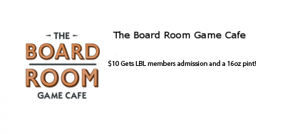 The Boardroom Game Cafe - $10 for admission and a 16 oz beer!