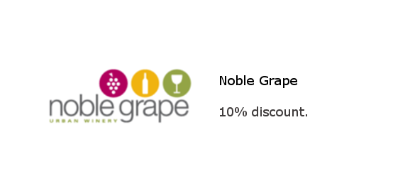 Noble Grape - 10% discount on supplies and equipment