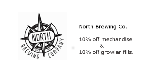 North Brewing Co. - 10% off growler fills and merchandise