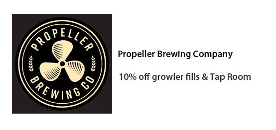 Propeller Brewing Co. - 10% off growler fills and Tap Room purchases