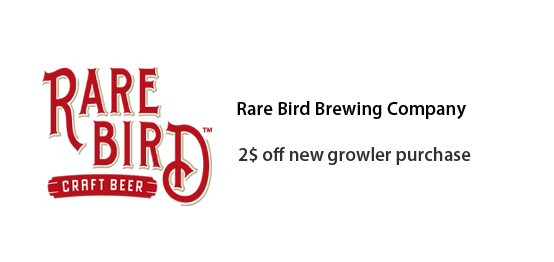 Rare Bird Brewing Co. - 2$ off new growler purchase