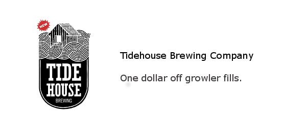 Tidehouse Brewing Co. - One dollar off growler fills